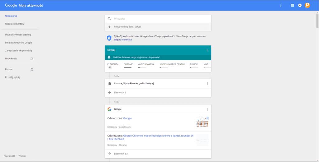 jak usunąć historię wyszukiwania Google