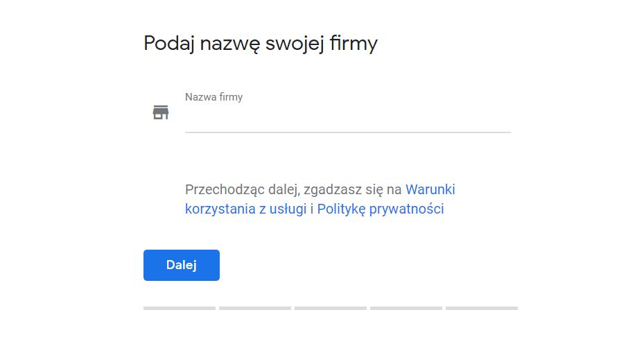 google moja firma zakładanie konta
