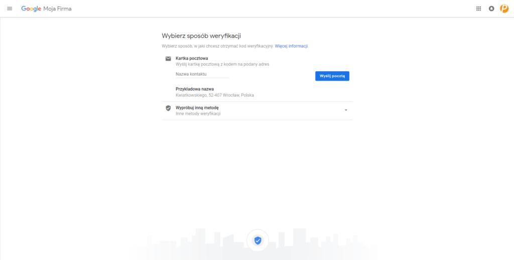 sposoby weryfikacji Google Moja Firma