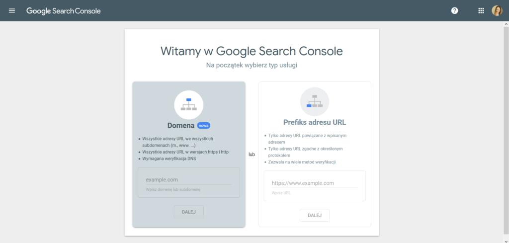 instalacja google search console