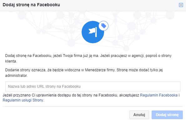 Jak dodać fanpage? - Facebook Business Manager