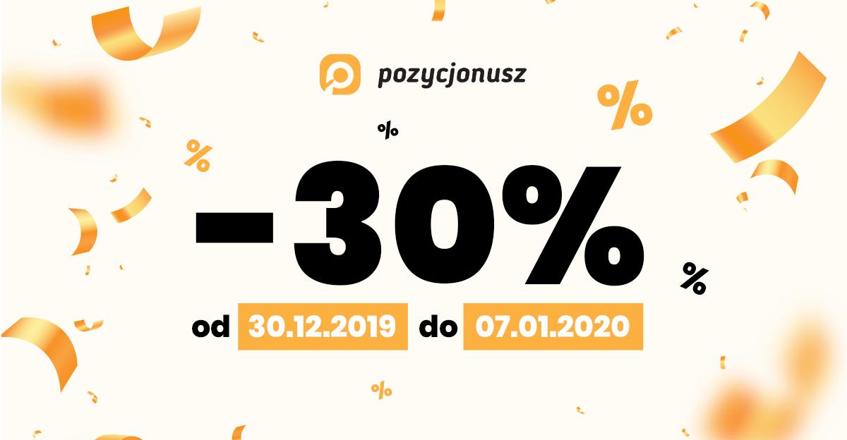 Szczęśliwego Nowego Roku ! PROMOCJE do -30% na nasze usługi SEO !