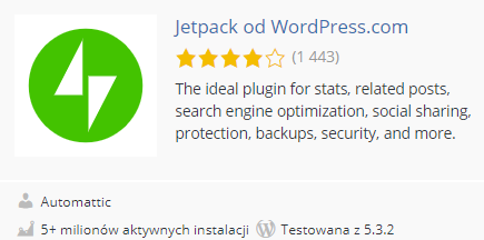 top10 wtyczek do wordpressa pod seo - jetpack plugin