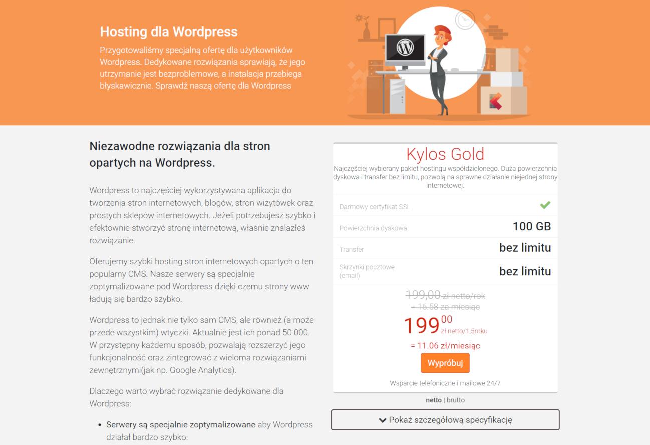 hosting z wordpressem