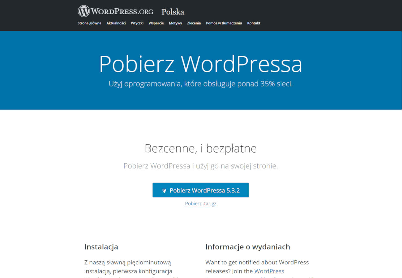 wordpress instalacja