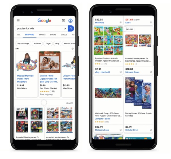Zakupy Google bez opłat 2020